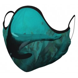 Orca Whale Face Covering